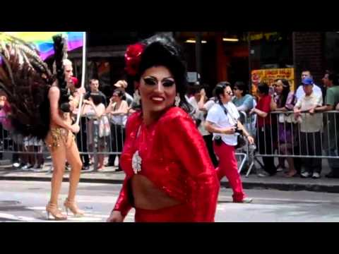 HUNKS on TRUCKS, DRAG QUEENS, and MORE!!! Music Box Bar 2012 QUEENS GAY PRIDE PARADE