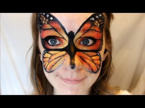 Monarch Butterfly Face Paint Monarch Butterfly Face Makeup