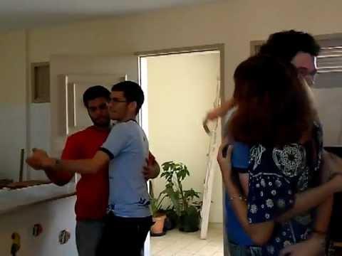 Frigo dançando com Nana. Hary dançando com MataGato! LOL