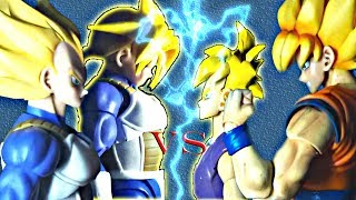 Dragon Ball Z Stop Motion-Goku and Gohan VS Vegeta and Trunks PART.1