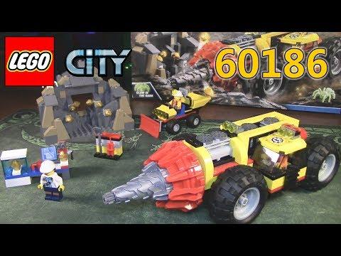 LEGO CITY 60186 Тяжелый бур для горных работ (ОБЗОР)
