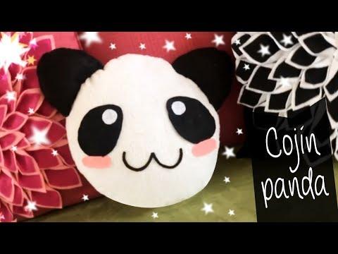 Cojín Panda estilo Kawaii