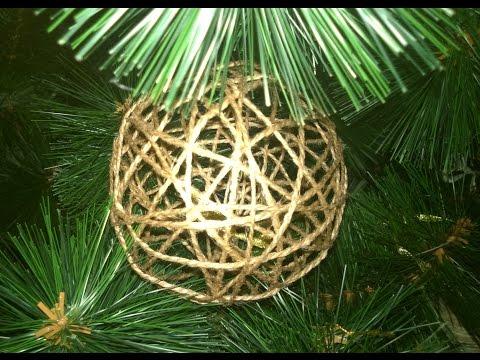 Шар на елку из ниток. Игрушки сделанные своими руками