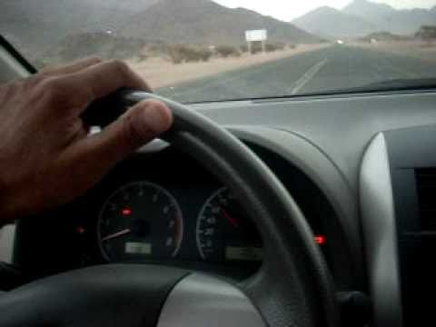 Miracle in Wadi e Jin, Madina Munawwara - car moving at it