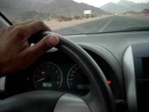 Miracle in Wadi e Jin, Madina Munawwara - car moving at it