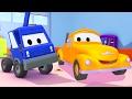 Çekici Tom ve Sepetli Vinç Araba Şehri'nde | Araba ve Kamyon inşaat çizgi filmi (çocuklar için)