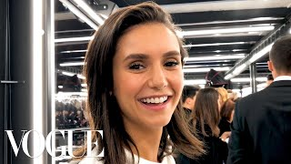 Nina Dobrev Gets Ready for the Louis Vuitton Fashion Show | Vogue