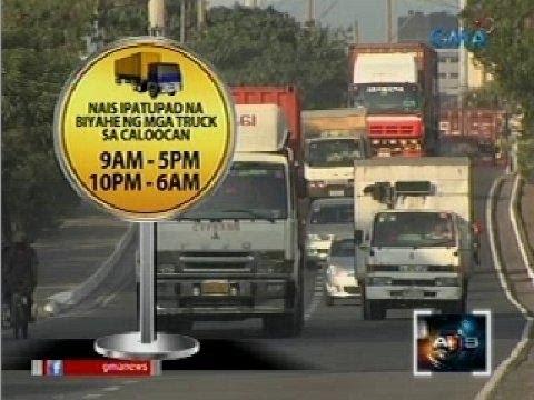 Saksi: Truck Ban mula 5pm-10pm, balak ipatupad sa Caloocan
