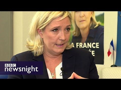 Brexit makes far-right stronger, says Marine Le Pen - BBC Newsnight