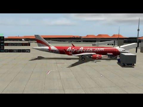 X-Plane 10.45 : A320 JARDesign Air Asia Jakarta (WIII) - Denpasar Bali (WADD) 1