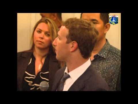 13 Okt 2014 Gub Jokowi menerima kunjungan pendiri Facebook (Mr.Mark Zuckerberg)