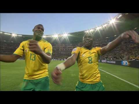 South Africa-Mexico: Macarena goal celebration (Tshabalala)