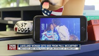 Lakeland woman gets kiss from Paul McCartney