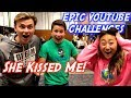I got KISSED?! Ultimate YouTube Challenge! With (Carter Sharer).