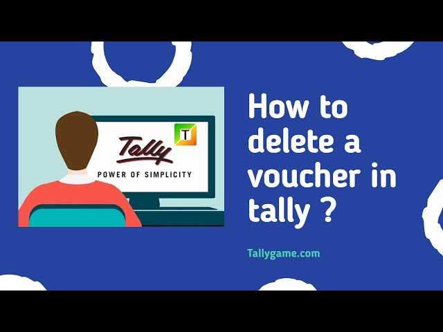 How to delete a voucher from tally