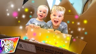 Surprise Mystery Box in a GIANT BOX FORT! 📦