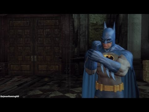 Gameplay do batman com a roupa azul