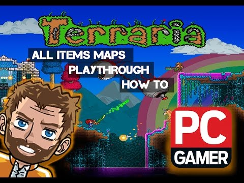 TERRARIA 1.2.4.1 ALL ITEMS MAP!!!!!!! Download Link! Part 1 of 4 Review!