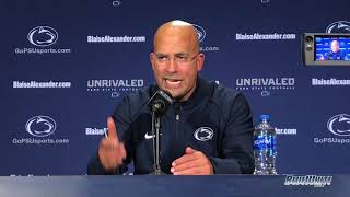 Penn State Nittany Lions Football: James Franklin - Michigan State postgame