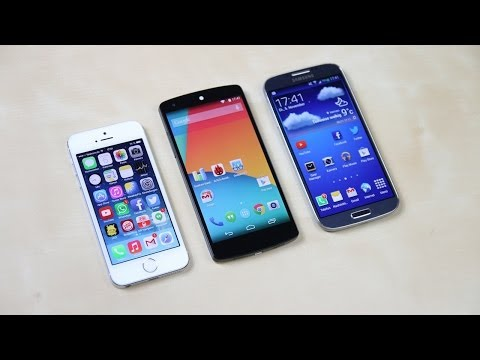 Google Nexus 5 vs. Apple iPhone 5s vs. Samsung Galaxy S4: Benchmark   SwagTab