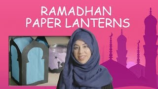 How to make a lantern for Ramadhan / Eid - Crafty kids | CABTV