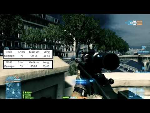 Battlefield 3 Weapon Comparison: SV98 vs M98B Sniper Rifles