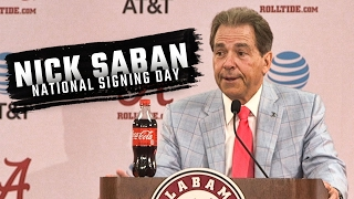 Hear what Nick Saban had to say about National Signing Day 2017 and Alabama's No. 1 class