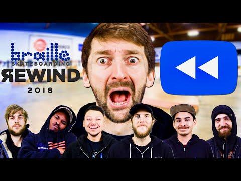 Youtube Rewind 2018  BRAILLE SKATEBOARDING EDITION!