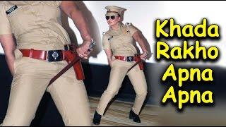Rakhi Sawant Talk Vulgar at Launch   Rakhi Ki Khaki Web Series   Rakhi Vulgar Dance Pose