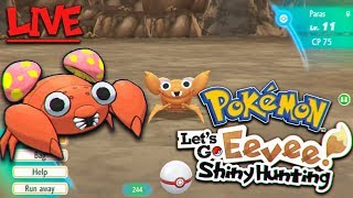 Pokemon Let's Go Shiny Hunting PARAS Live