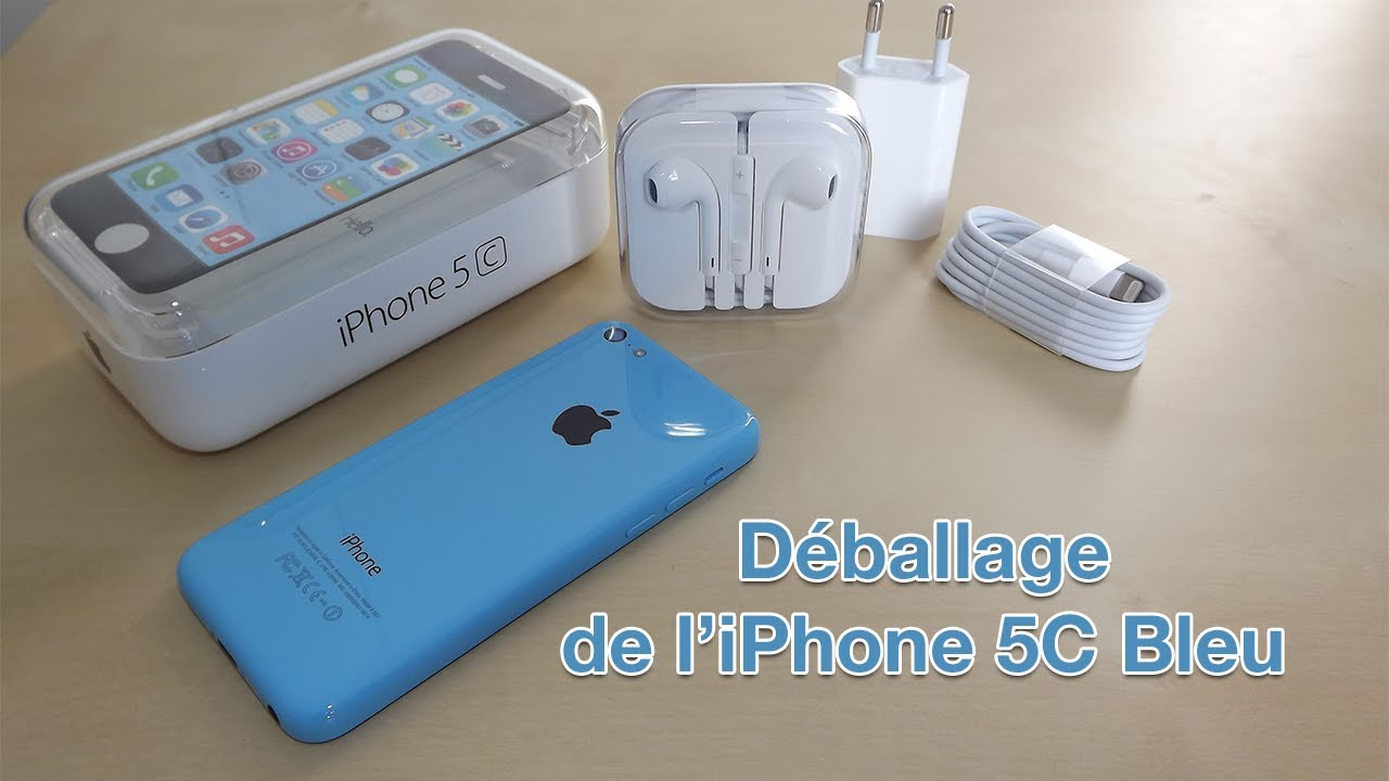 d ballage de l 39 iphone 5c bleu en fran ais unboxing iphone 5c blue youtube. Black Bedroom Furniture Sets. Home Design Ideas