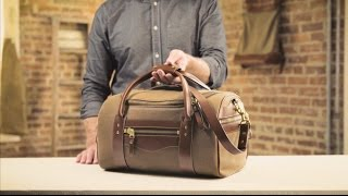 The Small Duffle   Waxed Canvas & Leather Duffle Bag