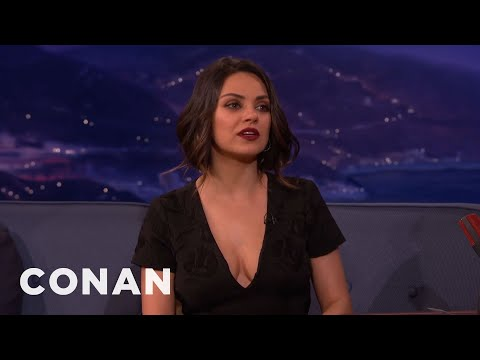 Mila Kunis: Ashton's Molding Our Daughter Into A Football Coach  - CONAN on TBS