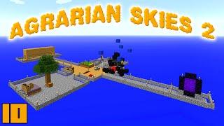 Minecraft Mods Agrarian Skies 2 - FIRST FLIGHT !!! [E10] (Modded Skyblock)