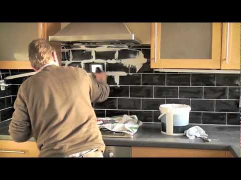 How to tile a youtube How to put tile on wall in the kitchen