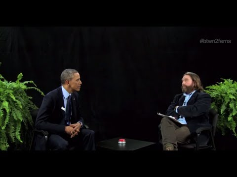 Zach Galifianakis Interviews Barack Obama - Snarky Interview