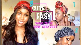 3 EASY & CUTE Ways to Wear your Turban/Headwrap | Tutorial