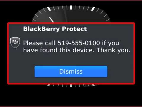 Find your lost BlackBerry smartphone using BlackBerry Protect