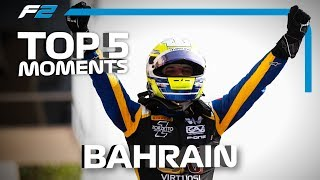 Top 5 Formula 2 Moments | 2019 Bahrain Grand Prix