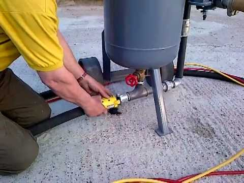sandblaster.shotblaster used reconditioned how it works