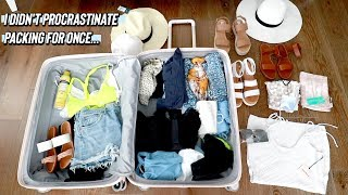 how i pack for vacation.. *i didn't procrastinate packing for once