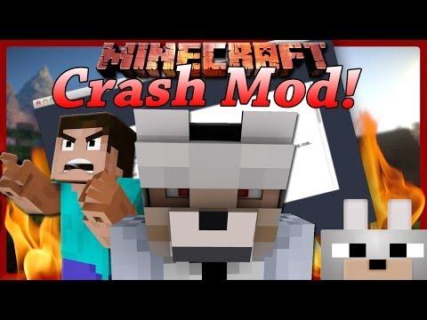 Minecraft Mods - Crash Mod 1.7.2. (SkyDoesMinecraft's MinePrank Mod) Review and Tutorial
