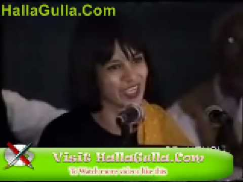 Mazahiya Mushaira Fakhara Batool Funny Poetry Hallagulla Com video