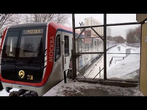 Поезд Москва на Филёвской линии
