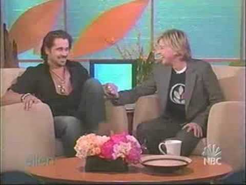 Colin Farrell on Ellen Part 1
