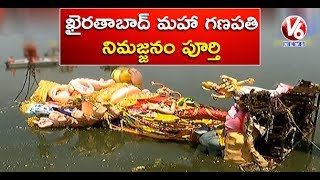 Khairatabad Ganesh Nimajjanam Exclusive Visuals | Ganesh Immersion 2018