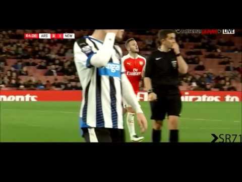 Wilshere 0 Touch Turns vs Newcastle u21