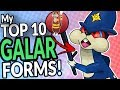My Top 10 Galar/ Galarian Form Pokemon For Pokemon Sword And Shield ⚔ 🛡 - Fakemon