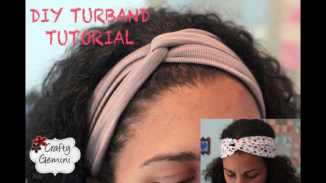 Make Turban Headband Turban Inspired Headband Diy