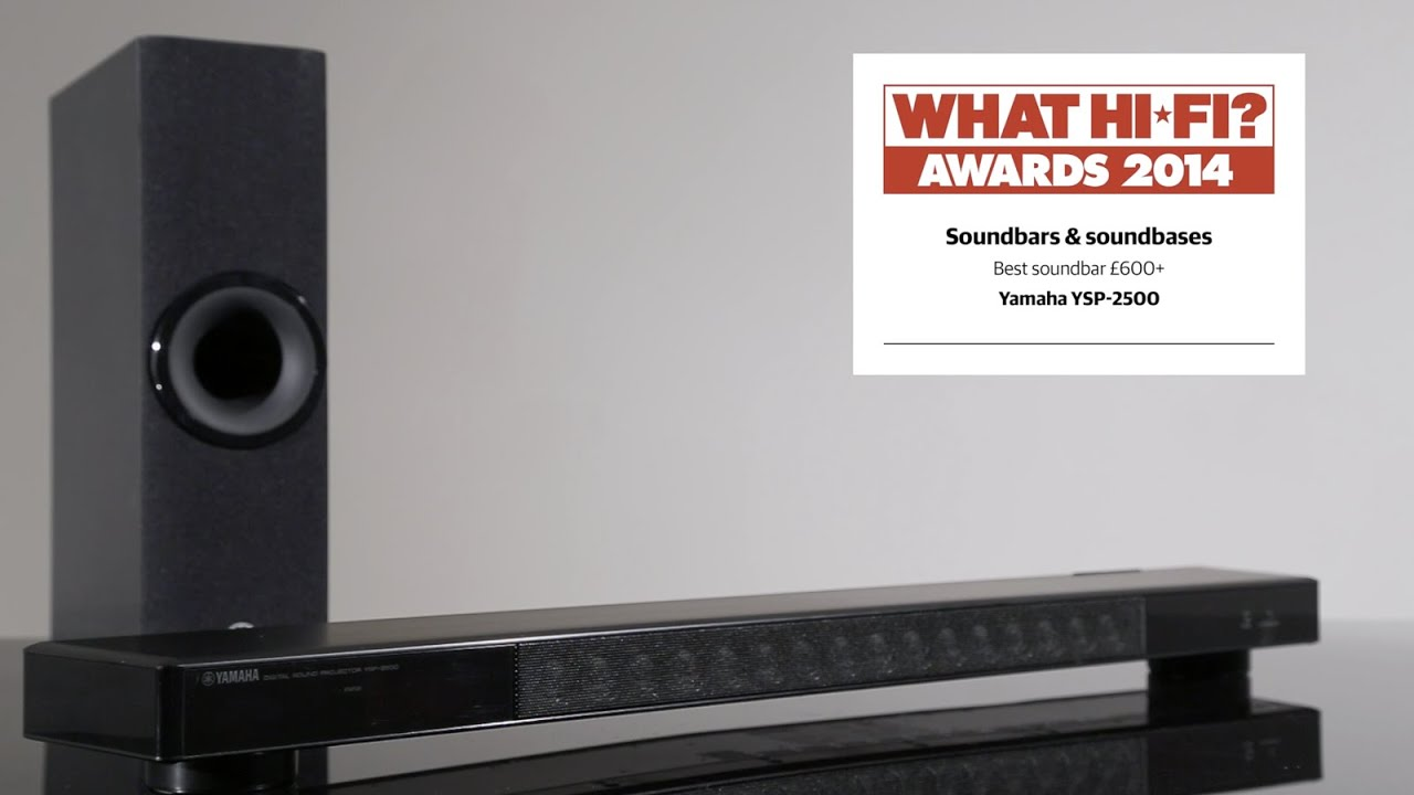 Best premium soundbar 2014 - Yamaha YSP-2500 - YouTube
